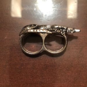 Jewelry - Sterling Silver Two-Finger Ring